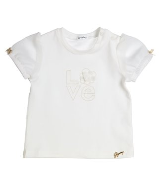 Gymp Off-White Tee Gold Love