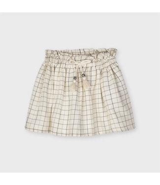 Mayoral Sand Plaid Skirt