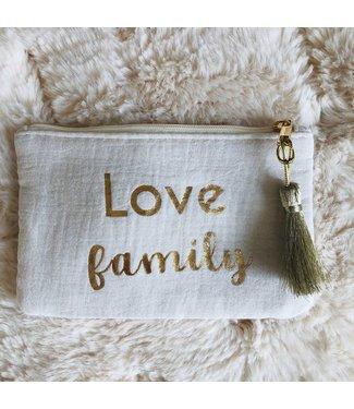 Kidsloft Pochette Ecru Love Family