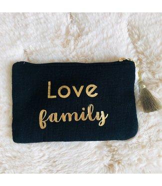 Kidsloft Pochette Noir Love Family