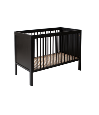 Bed  Black Satin 60 x 120
