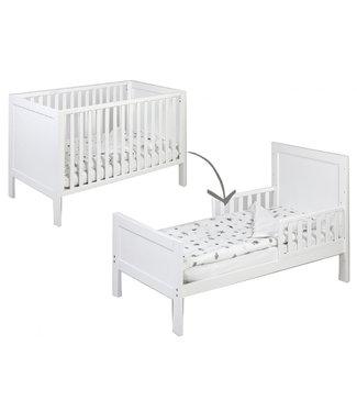 Omvormbaar Baby -Junior Bed Wit 70 x 140