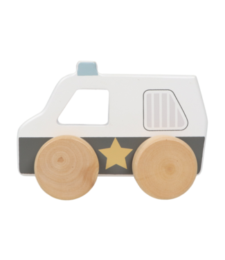 Tryco Wooden Police Car Toy