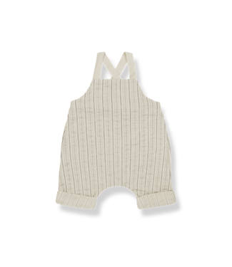 1+InTheFamily Lucas Short Overall Beige
