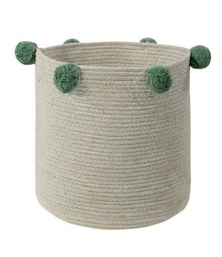 Lorena Canals Basket Bubbly Natural Green 30x30cm