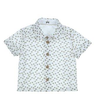 Gymp Shirt White Short Sleeve Palmtree