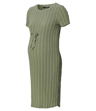 Supermom Dress Dusty Olive Stripe