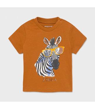 Mayoral Tee Play Zebra Caramel