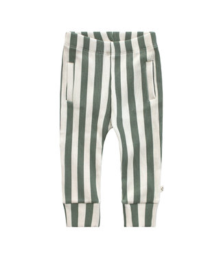 Your Wishes Bold Stripes Fitted Pants Old green
