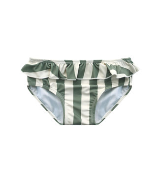 Your Wishes Bold Stripes Bikini Bottom Old Green