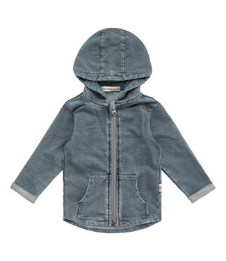 Your Wishes Knitted Denim Zipper Pocket Cardigan