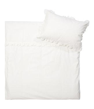 Koeka Dekbedovertrek Ruffle 100x135cm Warm White