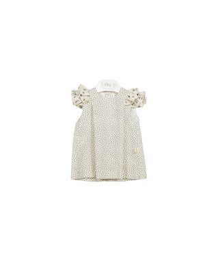 Baby Gi Dress Sand Frilly Detail Flowers