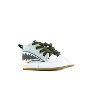 Go Banana's Babysneaker Sharkattack  Grey