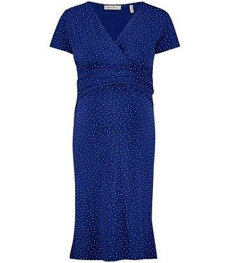 Queen Mum Dress Jersey Nurs Solidate Blue