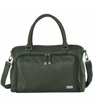 Isoki Nursery Bag Double Zip Satchel Khaki