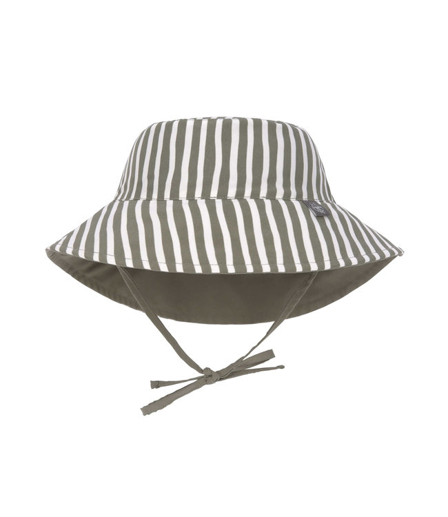 Lassig Sun Protection Bucket Hat Stripes Olive