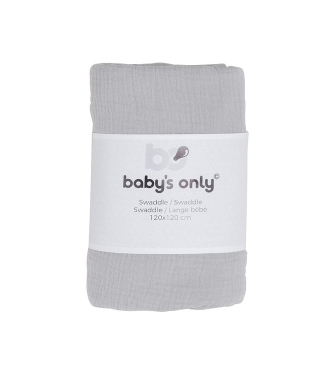 Baby's Only Swaddle Breeze Grijs 120x120cm