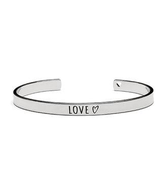 Proud Mama Armband Bangle 'Love' Zilver