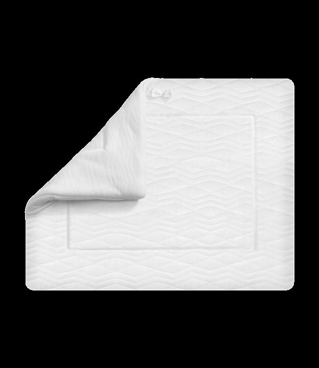 House Of Jamie Boxkleed  Geometry Jaquard White 75x95cm