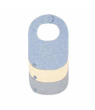 Lassig Newborn Bib Melange Yellow, Blue & Grey