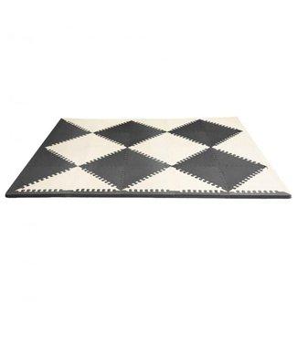 Playspot Geo Foam Floor Tiles Black/Cream