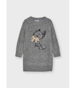 Mayoral Knitted Dress Grey Fox