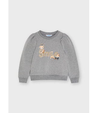 """Mayoral Sequin """"Ciao"""" Pullover Steel"""