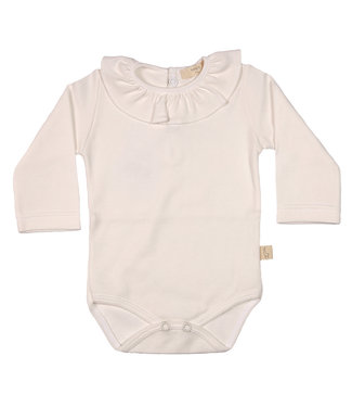 Baby Gi Pearl Cotton Bodysuit With frilly Collar