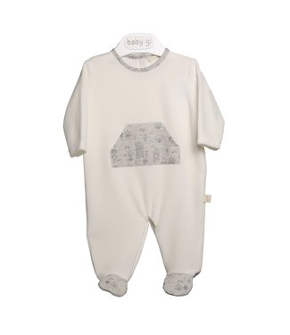 Baby Gi Pearl Velour Babygrow With Belly Pocket Village