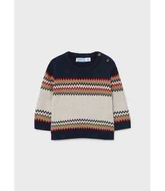 Mayoral Jaquard Sweater Blue