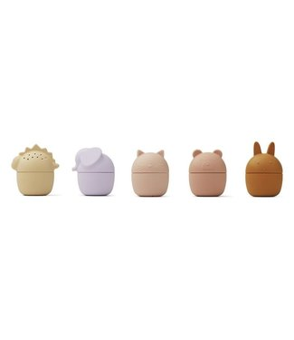 Liewood Gaby Bath Toys 5-Pack Rose Multi Mix