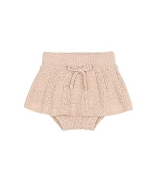Buho Fine Knit Culotte Skirt Nude