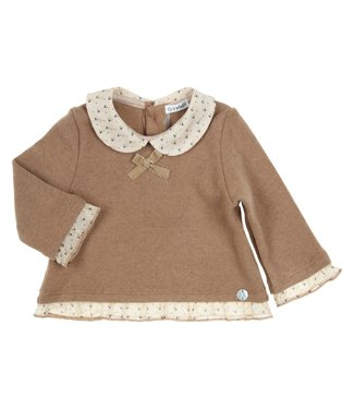 Gymp Pullover Sweater Claudine Collar Camel