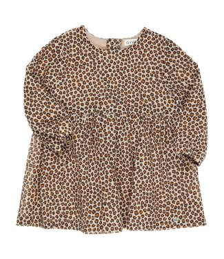Gymp Dress Leopard Camel/ Black