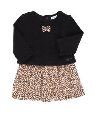 Gymp Combi Dress Leopard Camel/ Black