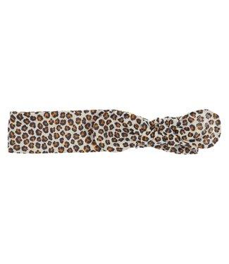Gymp Headband Jane Leopard Camel/ Black
