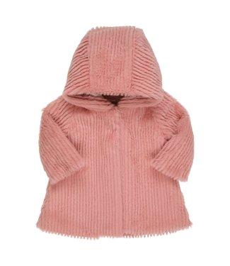 Gymp Coat Fake Fur Vieux - Rose