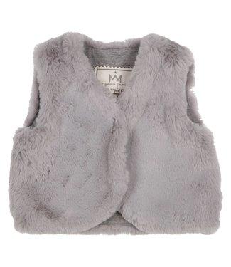 Gymp Gilet Fake Fur Grey