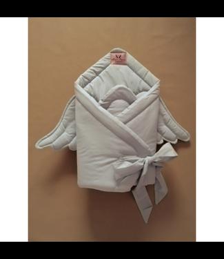 Huggles Republic Baby Horn Wings Grey