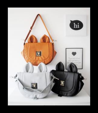 Huggles Republic Black Mouse Leather Bag