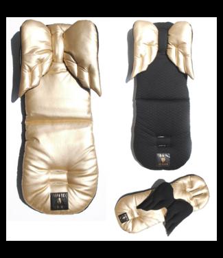 Huggles Republic Black Gold Wings Pad Premium