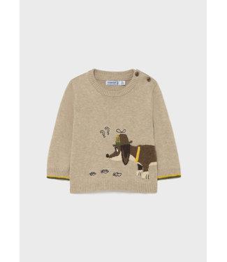 Mayoral Dog Sweater Oak