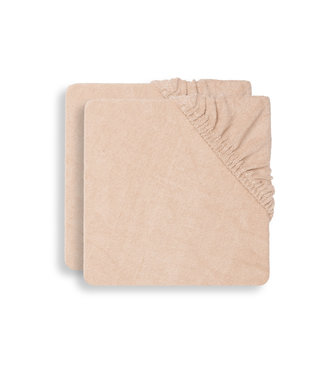Jollein Waskussenhoes Badstof 50x70cm 2-Pack Pale Pink