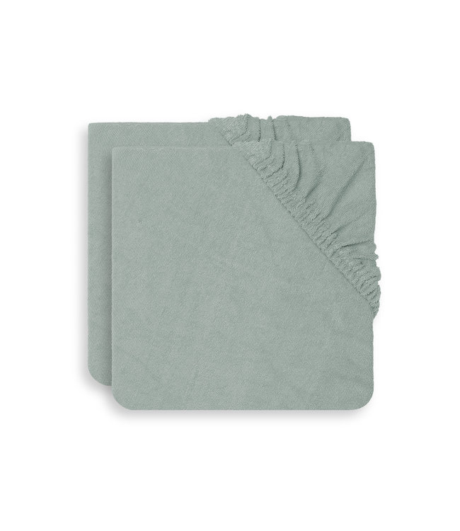 Jollein Waskussenhoes Badstof 50x70cm 2-Pack Ash Green