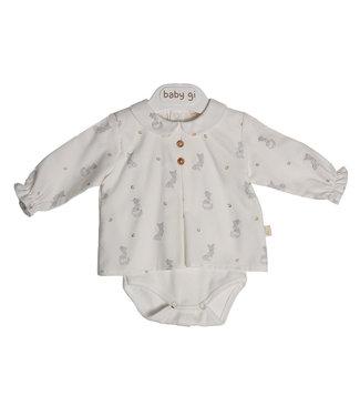 Baby Gi Pearl Bodyvest Blouse With Collar Fox