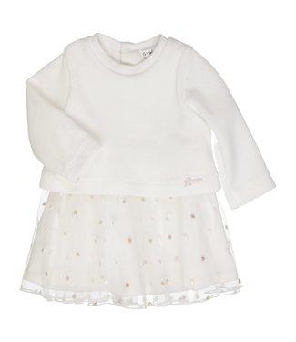 Gymp Dress Tulle Skirt Combi Melanie Off-White
