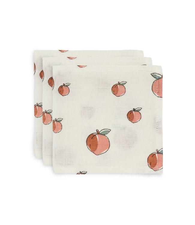 Jollein Hydrofiel Monddoekje Peach 3-Pack