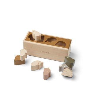 Liewood Midas Puzzle Box Friendship Golden Caramel Multi Mix