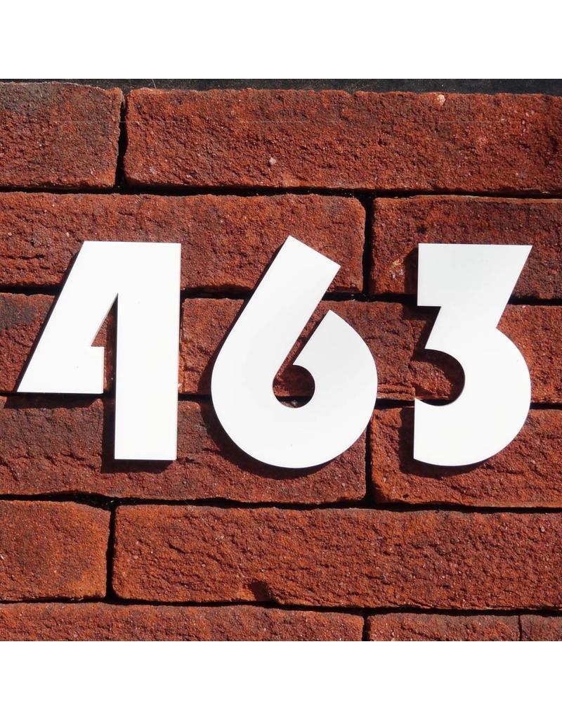 Huisnummer witte acryl